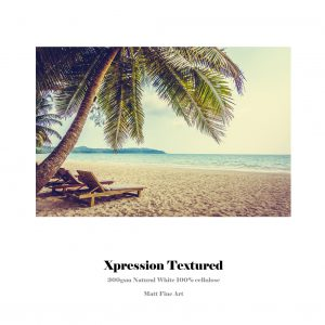 Xpression Textured Paper | 300gsm Natural White | 100% Cellulose | Matt Fine Art