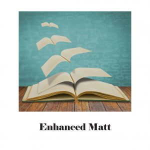 Image of an open book whose pages are flying away like birds. Enhanced matt paper.