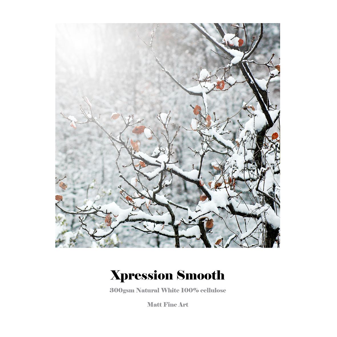 Xpression Smooth | 300gsm | natural White | 100% Cellulose | Matt Fine Art