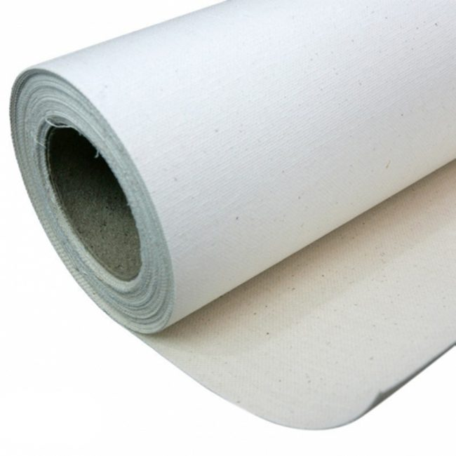 Roll of canvas paper.